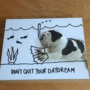 NWT Don't Quit Your Daydream Wall Plaque